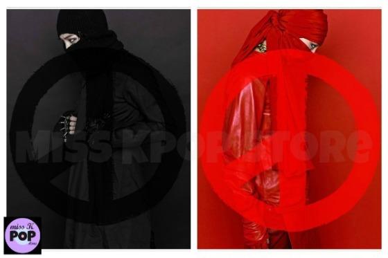 BIG BANG G-DRAGON - Album Vol. 2 [COUP D'ETAT] (Black / Red Version) - Portadas